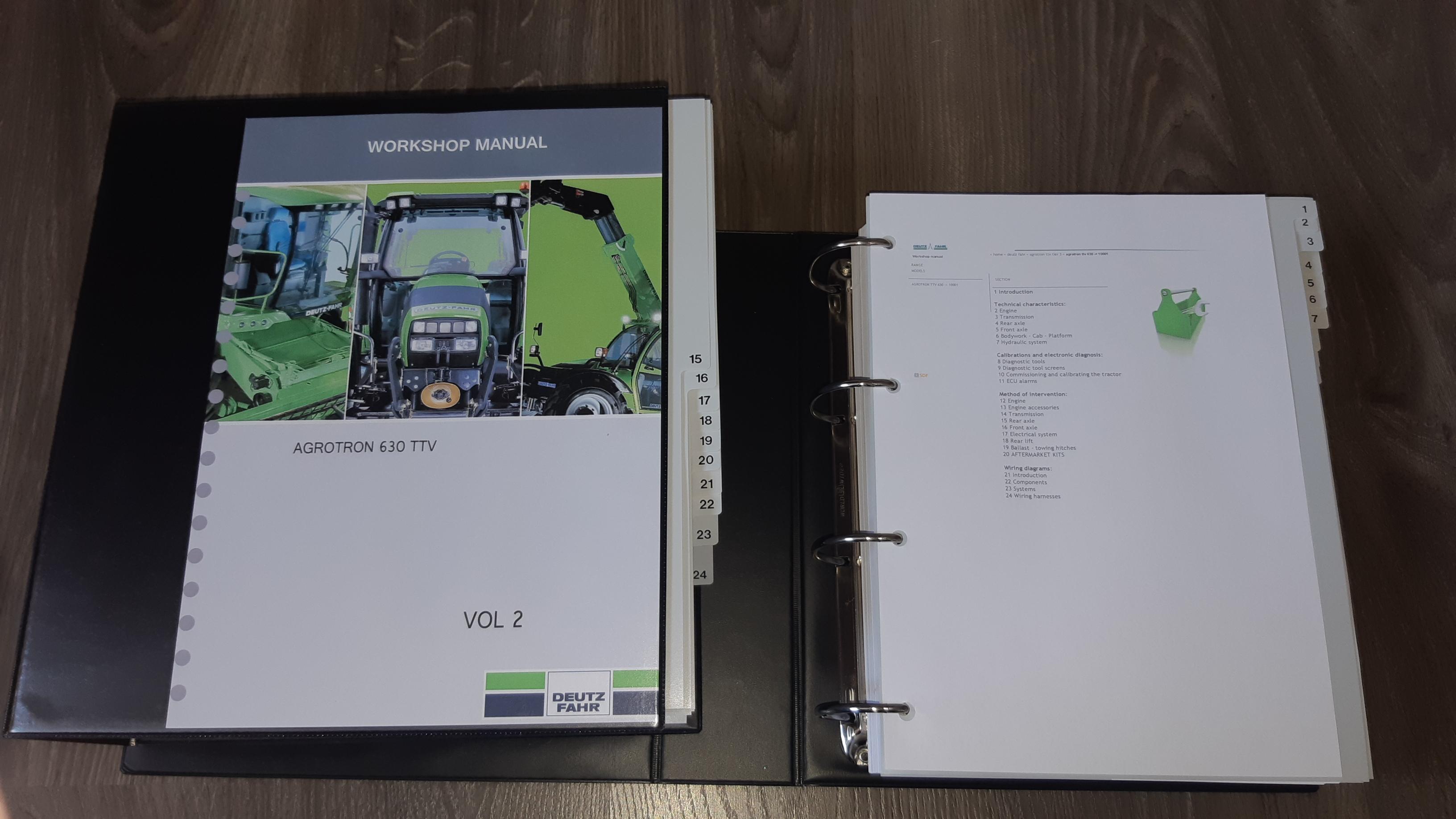 Deutz Fahr Tractor Agrotron 630ttv Ttv Tier3 Service Workshop Manual